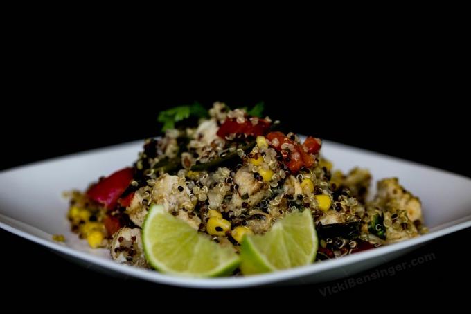 Southwest Chicken & Quinoa Salad - with grilled veggies