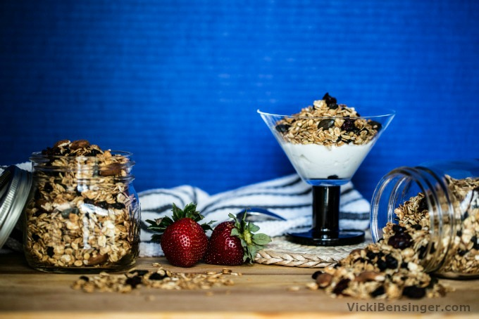 Homemade Granola with Dried Fruit & Nuts