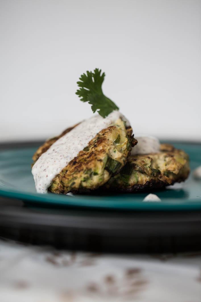 Turkey & Zucchini Burgers - At Home with Vicki Bensinger