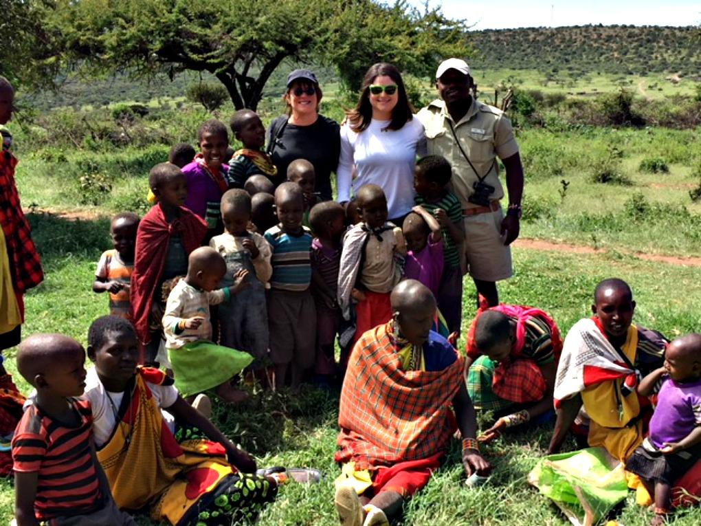 Maasai Village Children barefoot
