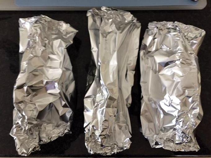 Foil encased tilapia