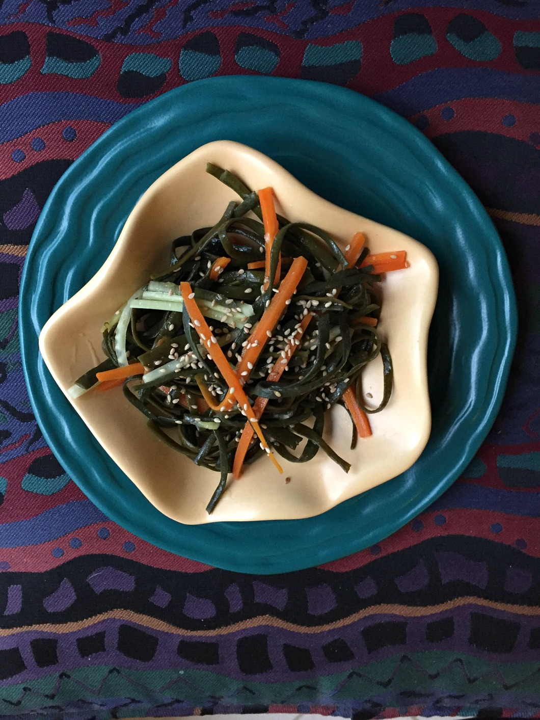 Seaweed Salad with carrots, & cucmber