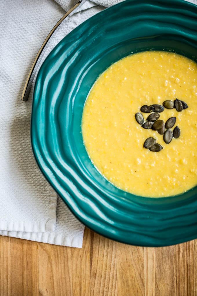 Corn & Yellow Pepper Soup