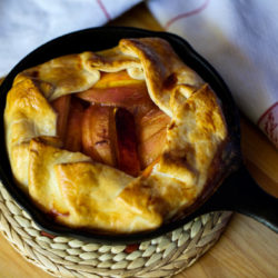 Peach Galette in a Cast Iron Skillet for Two