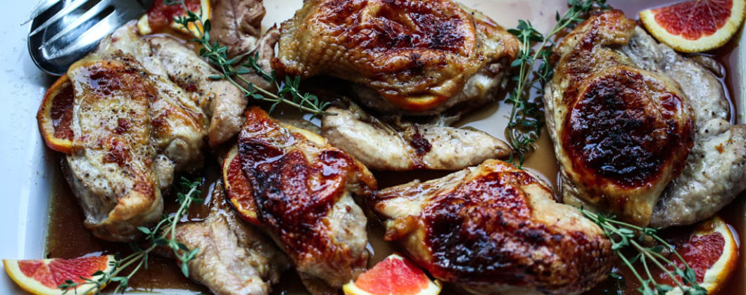 Pomegranate Roasted Chicken Breasts