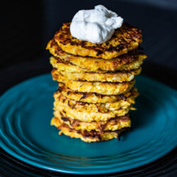 Butternut Squash Latke's with Cinnamon Yogurt