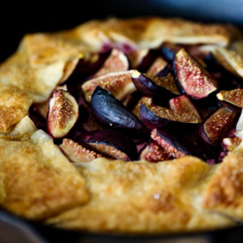 Goat Cheese & Fig Galette, with honey