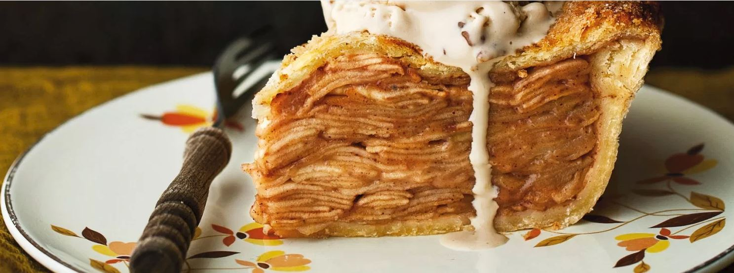 Layers of apples create this perfect apple pie