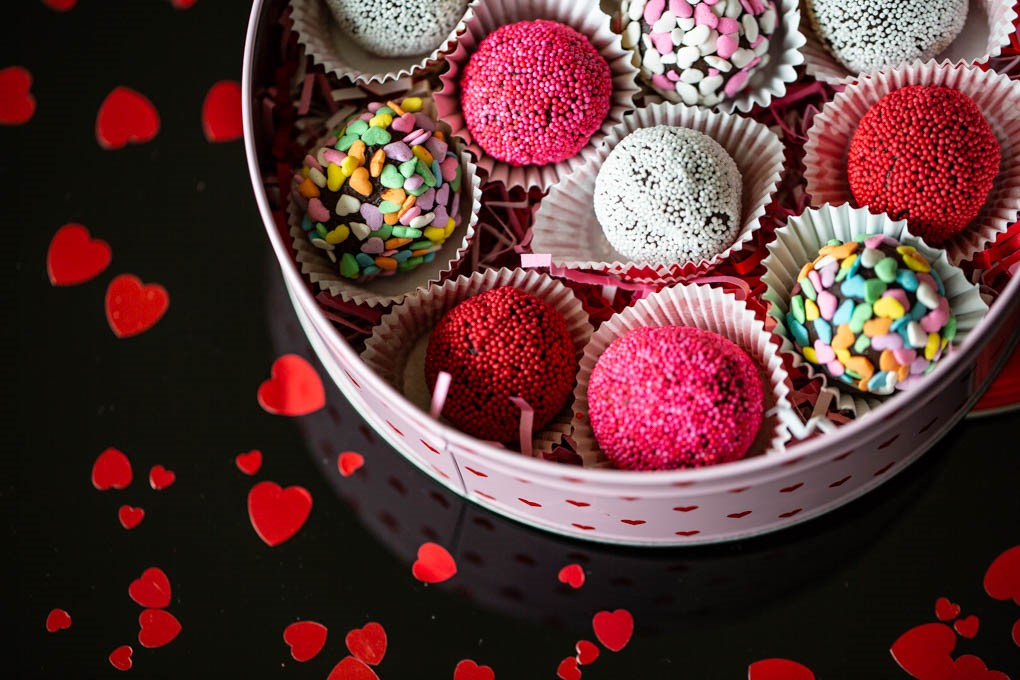 Decadent Chocolate Valentine Truffles