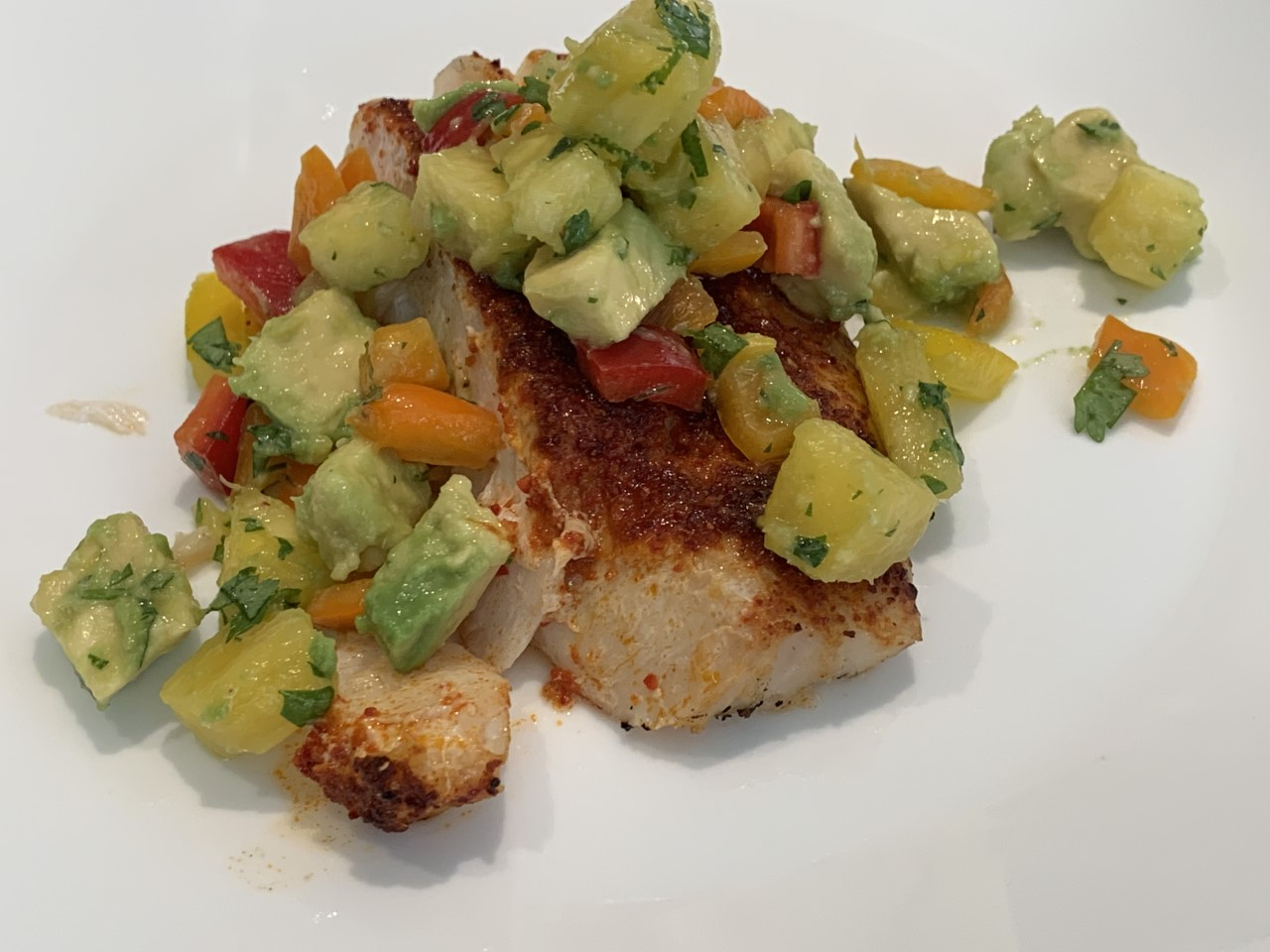 Halibut with Fresh Fruit Salsa
