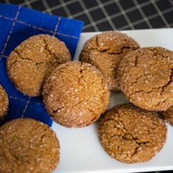 Ginger Molasses Cookies are soft, with a hint of spice topped with sugar for extra crunch