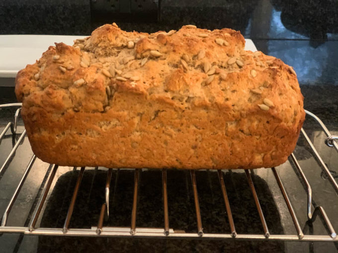 Hearty Sprouted Whole Wheat Bread with Sunflower Seeds & Honey
