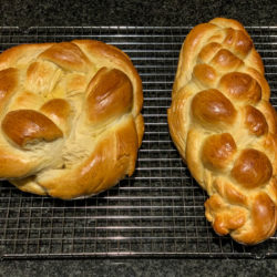 Homemade Challah 6 Braided and $ Braided Round Challah