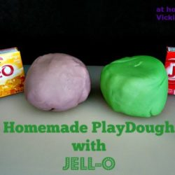 Homemade PlayDough made with Jell-O