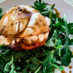 Grilled Peach & Burrata Salad with Aged Balsamic