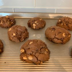 Mountainous Chocolate Peanut Butter Cup Cookies