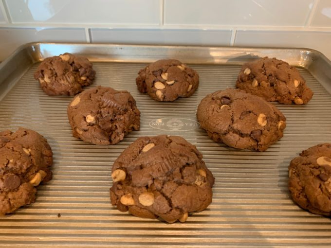 Mountainous Chocolate Peanut Butter Cup Cookie
